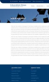 پیش نمایش موبایل قالب وردپرس Education Base