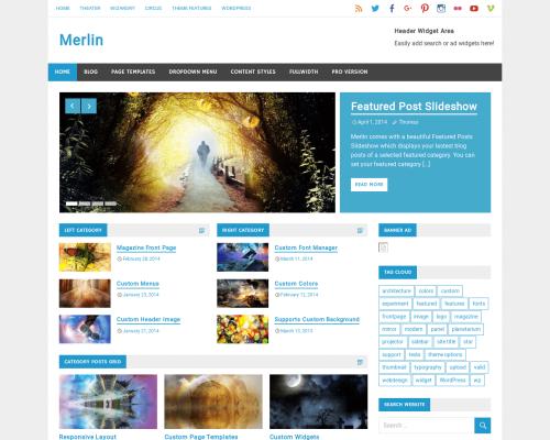 دانلود رایگان قالب وردپرس Merlin