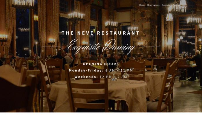 پیش نمایش دسکتاپ قالب وردپرس Neve Restaurant