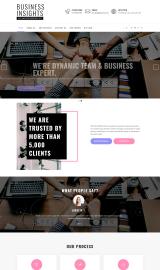پیش نمایش موبایل قالب وردپرس Business Insights