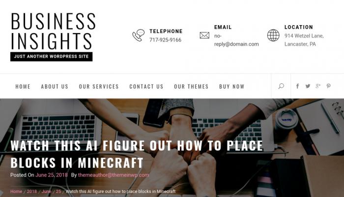 پیش نمایش دسکتاپ قالب وردپرس Business Insights