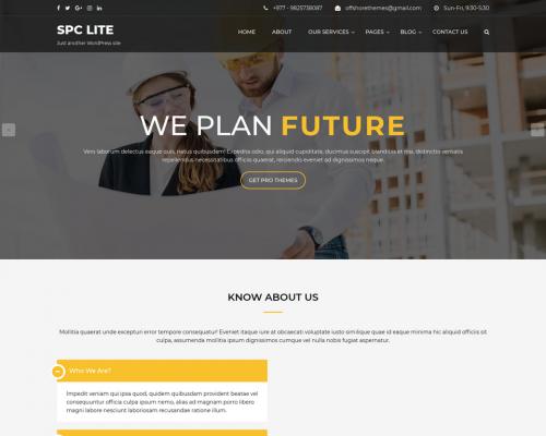 دانلود رایگان قالب وردپرس Spark Construction Lite
