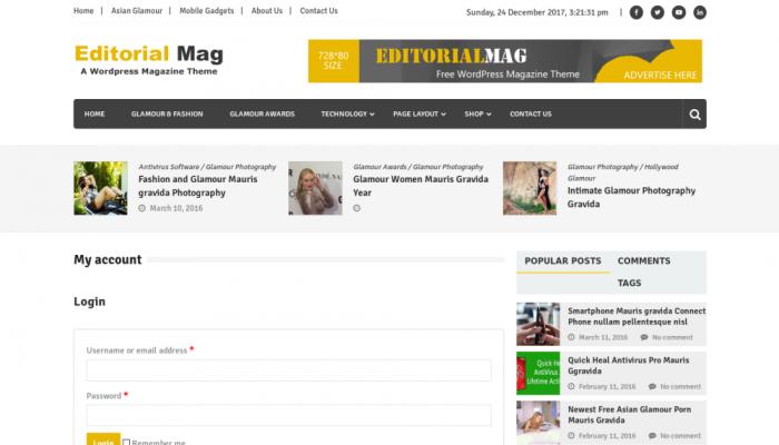 پیش نمایش دسکتاپ قالب وردپرس Editorialmag