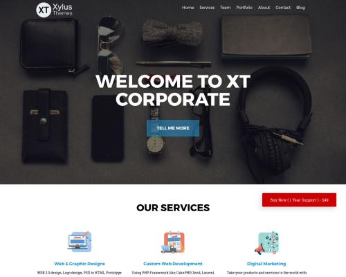 دانلود رایگان قالب وردپرس XT Corporate lite