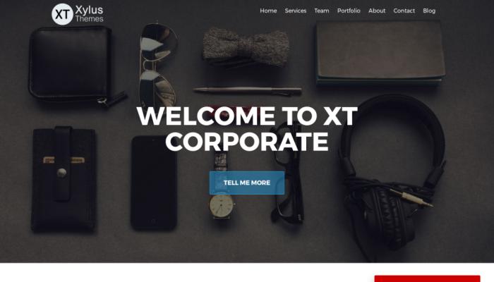 پیش نمایش دسکتاپ قالب وردپرس XT Corporate lite
