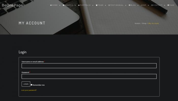 پیش نمایش دسکتاپ قالب وردپرس BeOnePage Lite