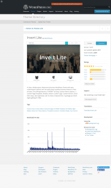 پیش نمایش موبایل قالب وردپرس Invert Lite
