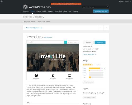 دانلود رایگان قالب وردپرس Invert Lite