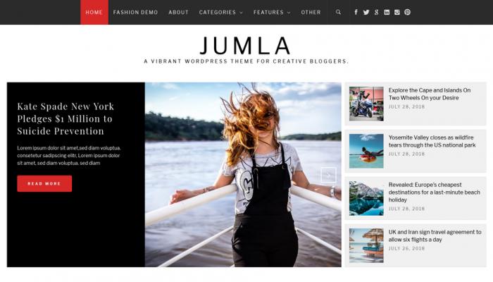 پیش نمایش دسکتاپ قالب وردپرس Jumla
