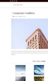 پیش نمایش موبایل قالب وردپرس LawyeriaX Lite