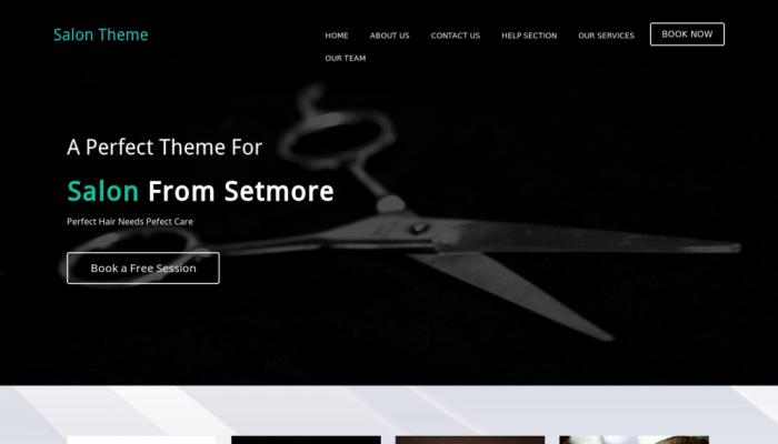 پیش نمایش دسکتاپ قالب وردپرس Setmore SpaSalon