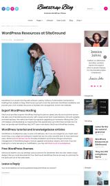 پیش نمایش موبایل قالب وردپرس Bootstrap Blog