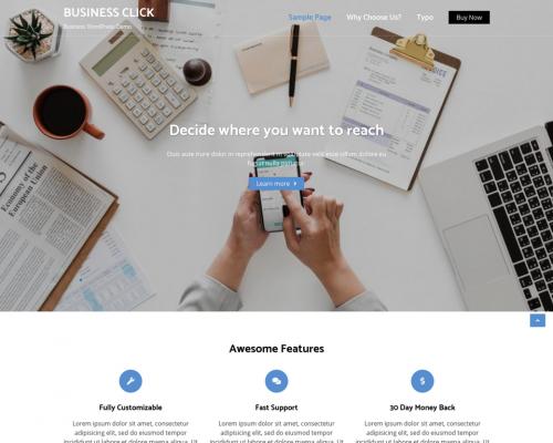 دانلود رایگان قالب وردپرس Business Click