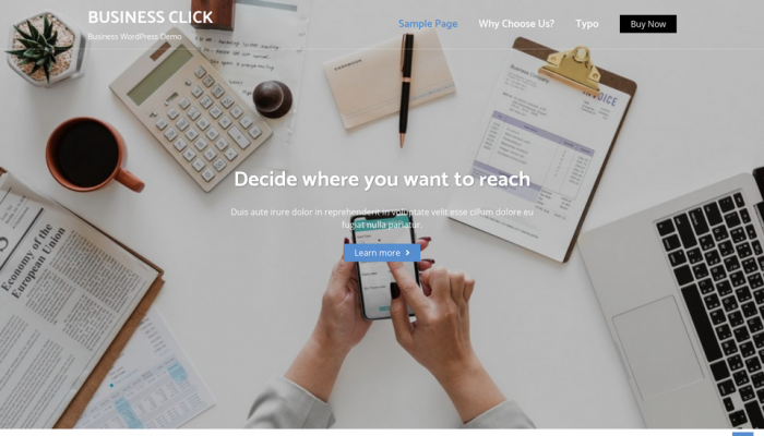 پیش نمایش دسکتاپ قالب وردپرس Business Click