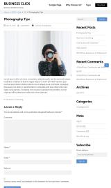 پیش نمایش موبایل قالب وردپرس Business Click