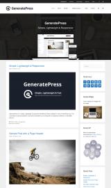 پیش نمایش موبایل قالب وردپرس GeneratePress