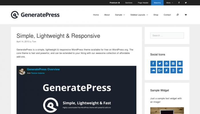 پیش نمایش دسکتاپ قالب وردپرس GeneratePress