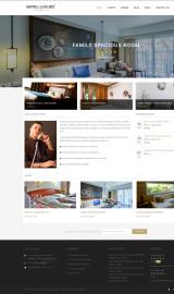 پیش نمایش موبایل قالب وردپرس Hotel Luxury