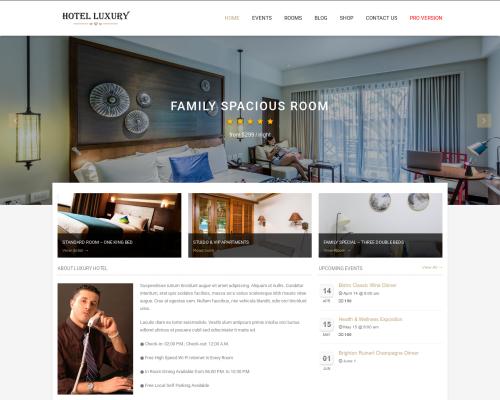 دانلود رایگان قالب وردپرس Hotel Luxury