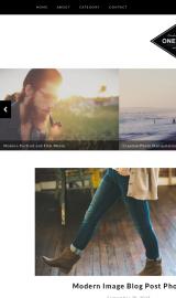 پیش نمایش موبایل قالب وردپرس One Blog
