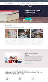 پیش نمایش موبایل قالب وردپرس Rara Academic