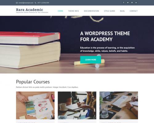دانلود رایگان قالب وردپرس Rara Academic
