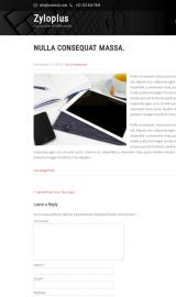 پیش نمایش موبایل قالب وردپرس Zylo Plus