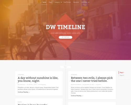 دانلود رایگان قالب وردپرس DW Timeline