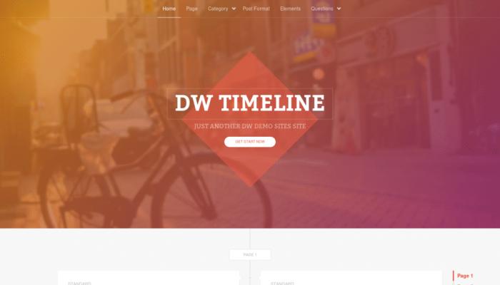 پیش نمایش دسکتاپ قالب وردپرس DW Timeline