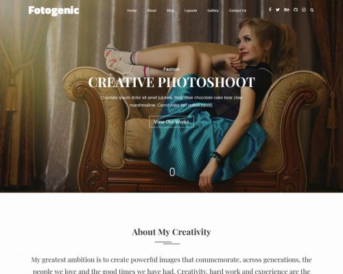 دانلود رایگان قالب وردپرس Fotogenic