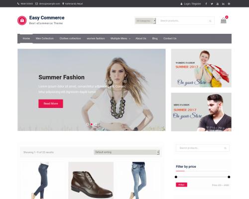 دانلود رایگان قالب وردپرس Easy Commerce