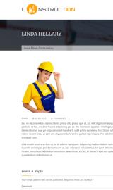 پیش نمایش موبایل قالب وردپرس Construction Lite