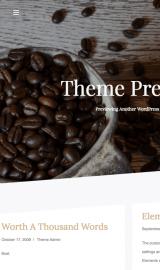 پیش نمایش موبایل قالب وردپرس CoffeeIsle