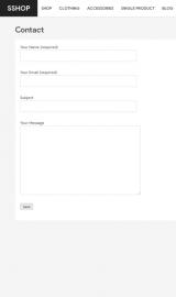 پیش نمایش موبایل قالب وردپرس SShop