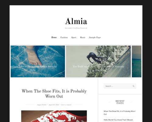 دانلود رایگان قالب وردپرس Almia