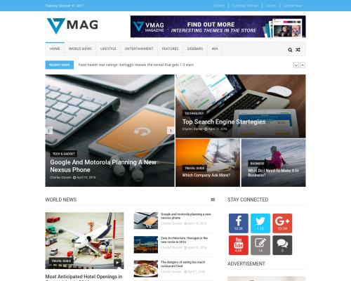دانلود رایگان قالب وردپرس Vmag