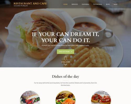 دانلود رایگان قالب وردپرس Restaurant and Cafe