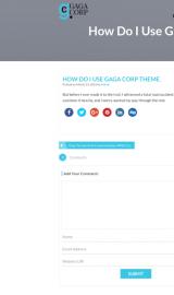 پیش نمایش موبایل قالب وردپرس Gaga Corp