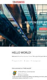 پیش نمایش موبایل قالب وردپرس Business World