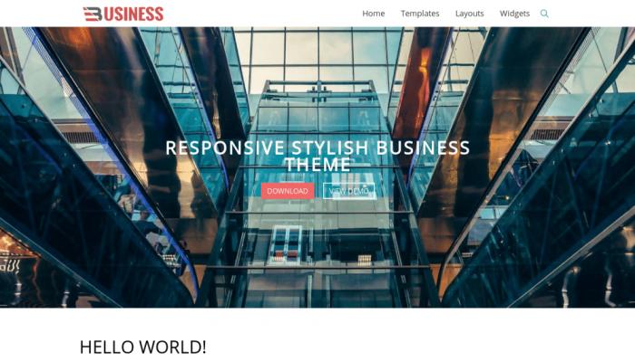 پیش نمایش دسکتاپ قالب وردپرس Business World