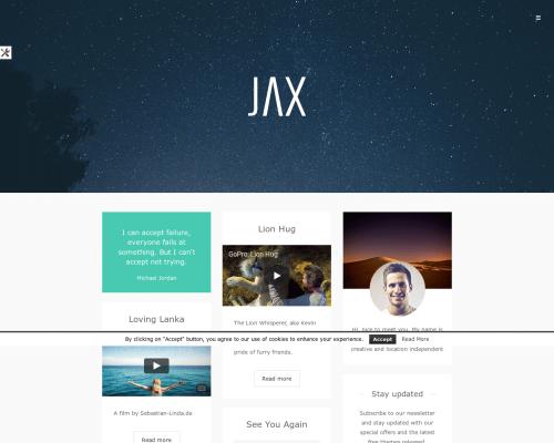 دانلود رایگان قالب وردپرس Jax Lite