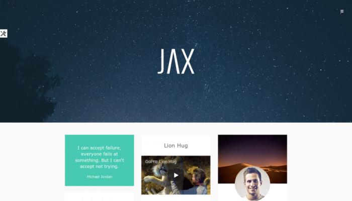 پیش نمایش دسکتاپ قالب وردپرس Jax Lite