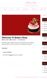 پیش نمایش موبایل قالب وردپرس Bakery Shop