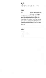 پیش نمایش موبایل قالب وردپرس Ari