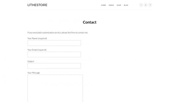 پیش نمایش دسکتاپ قالب وردپرس LitheStore