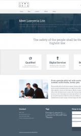 پیش نمایش موبایل قالب وردپرس Lawyeria Lite