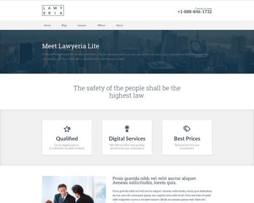 دانلود رایگان قالب وردپرس Lawyeria Lite