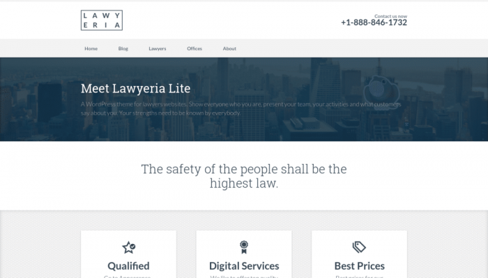 پیش نمایش دسکتاپ قالب وردپرس Lawyeria Lite