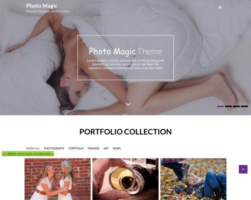 دانلود رایگان قالب وردپرس Photo Magic