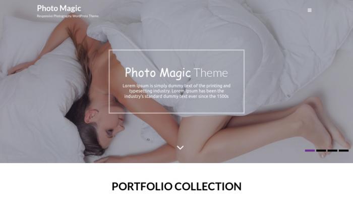 پیش نمایش دسکتاپ قالب وردپرس Photo Magic